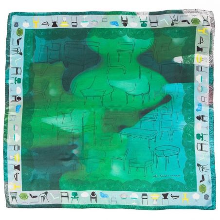 Silk Scarf Mila Schon chairs green