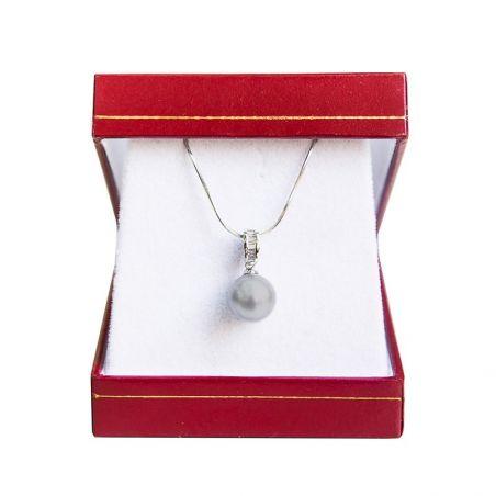 Pandantiv argint perla gri