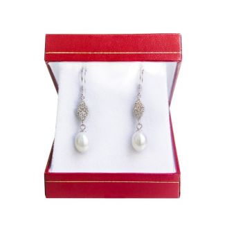 Silver Earrings Wedding Pearls
