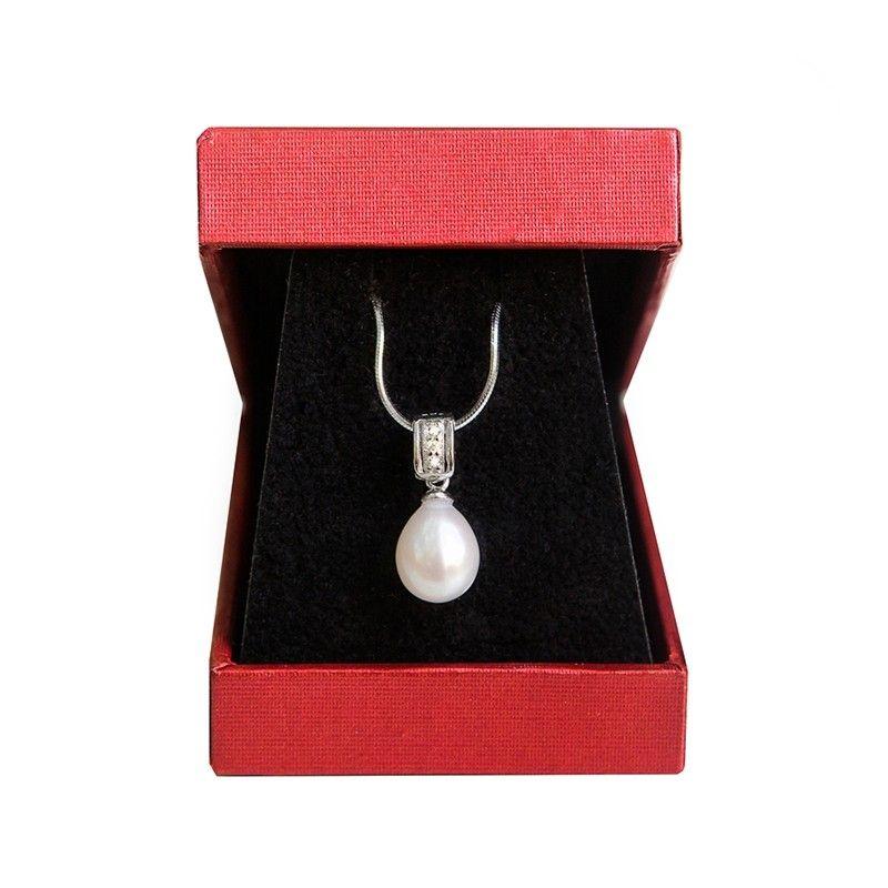 Pandantiv argint perla alba