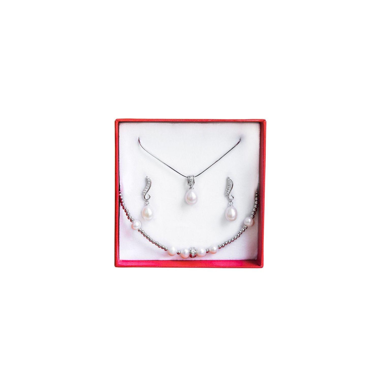 Pearls Wedding Jewelry Set