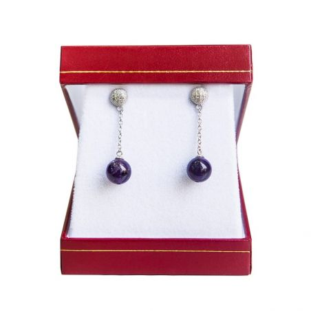 Silver earrings amethyst My Way