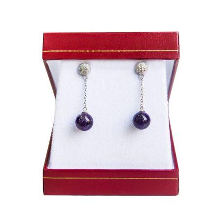 Silver earrings amethyst My Way