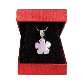 Rose quartz flowers pendant