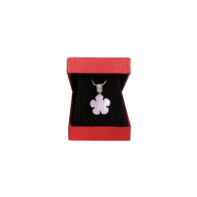Rose quartz flowers pendant