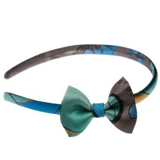 Headband cu fundiţă Azzurro di Capri