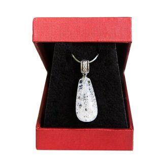 Pandantiv argint cristal de gheata picaturi