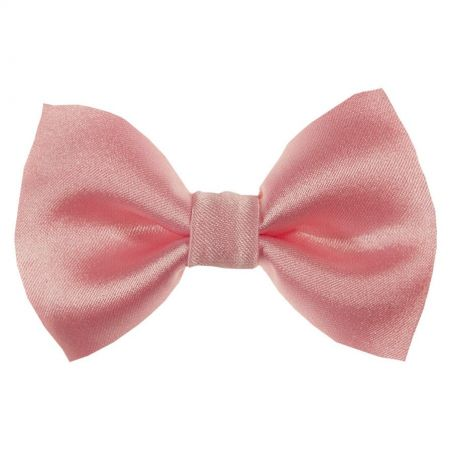 Dusty pink bow clip