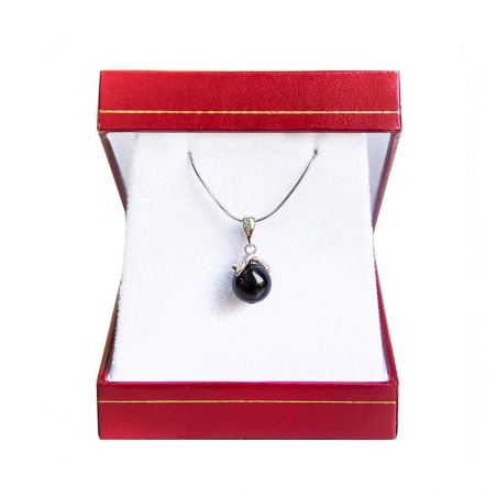 Silver pendant onix