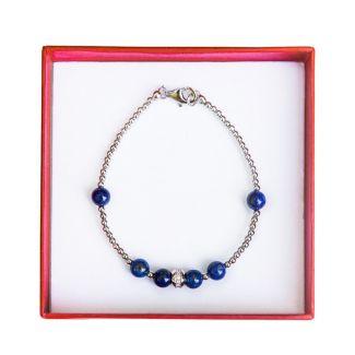 Bracelet silver and lapis lazuli Irresistible