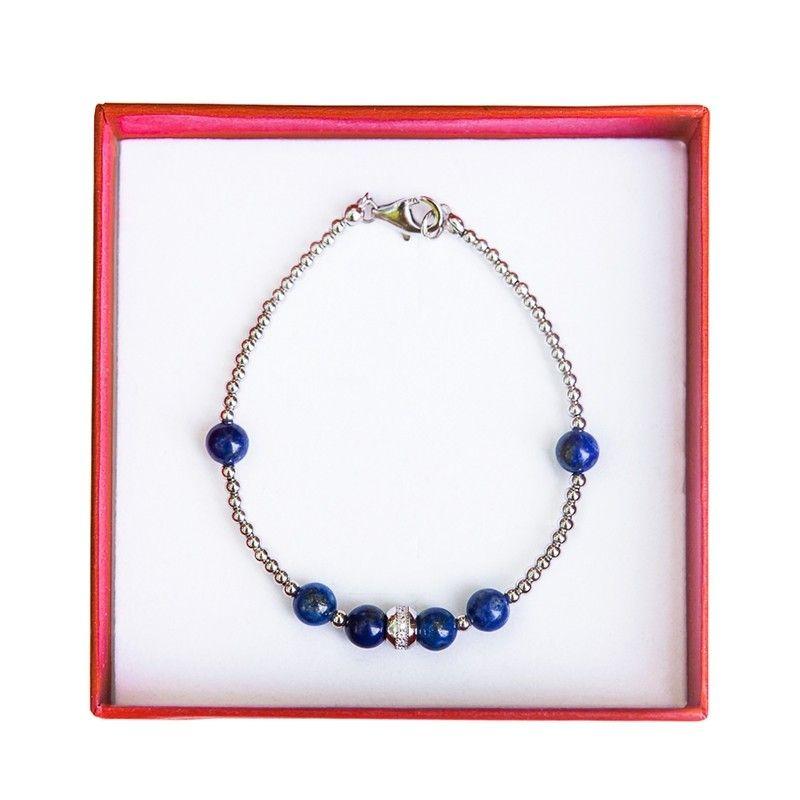 Bratara argint si lapis lazuli Irresistible