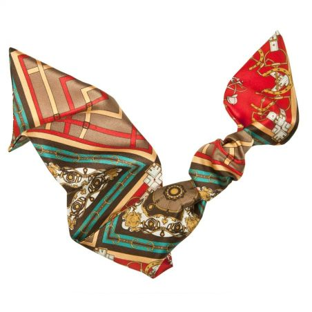 London rush hair scarf red motif