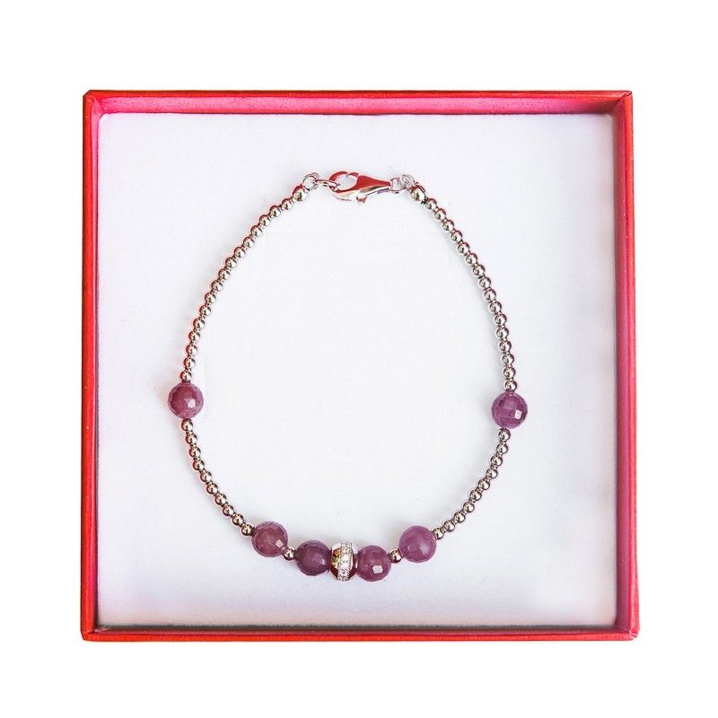 Silver and ruby bracelet Irresistible
