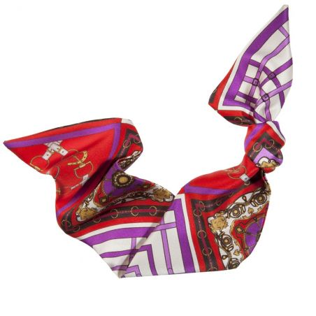 London Rush hair scarf on mauve