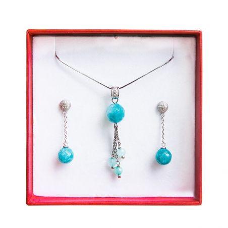 Set bijuterii argint agat turcoaz