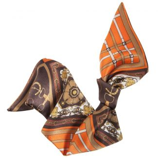 London Rush hair scarf on orange