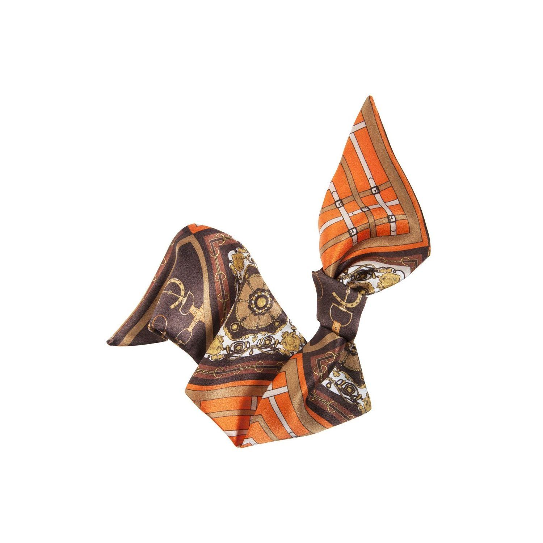 Eşarfă de păr London Rush fond maro