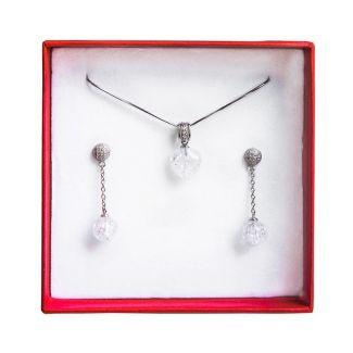 Set bijuterii argint cristal de gheata