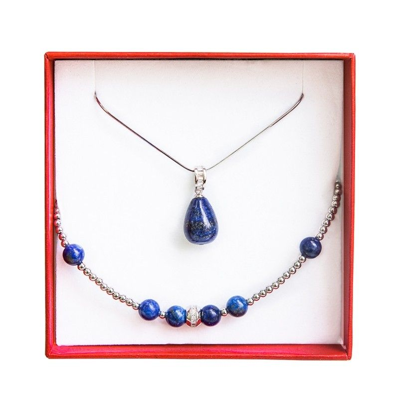 Set bijuterii argint lapis lazuli