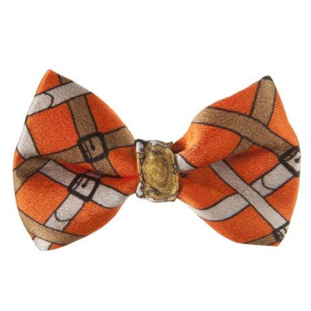 London Rush bow clip on orange