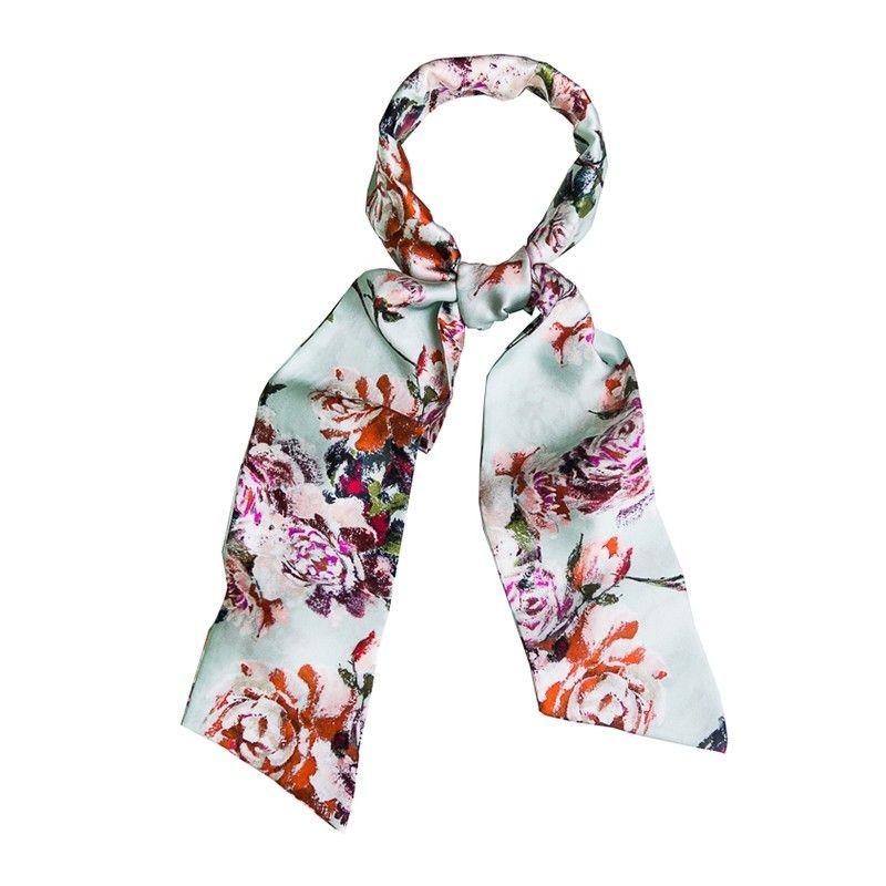 Neige Roses Silk Scarf