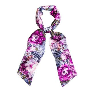 Purple Kiss Silk Scarf