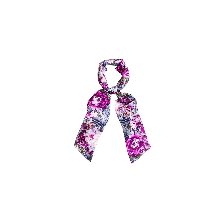 Eşarfă mătase naturală Purple Kiss