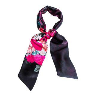 Eşarfă mătase naturală Rouge Intense