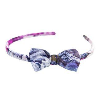 Headband cu fundiţă Purple Kiss