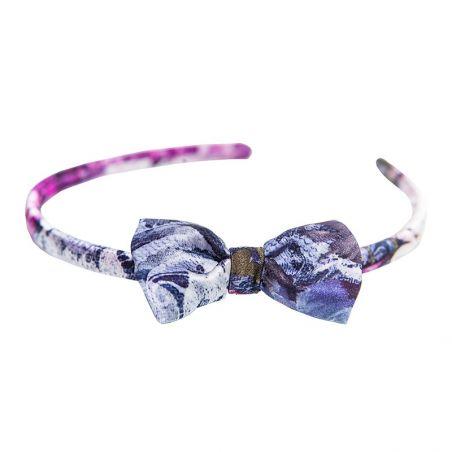 Headband cu fundita Purple Kiss