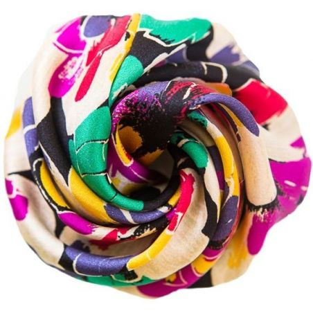 GIFT: Silk scarf and hair rose Tojour Colors