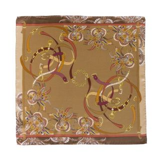 Silk Scarf Marina D'Este London Club gold
