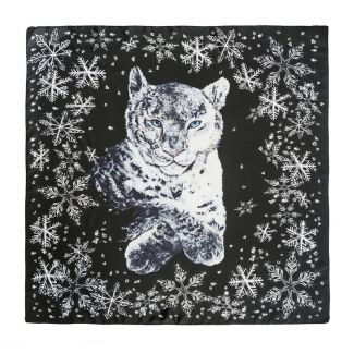 Silk Scarf Marina D'Este White Cat