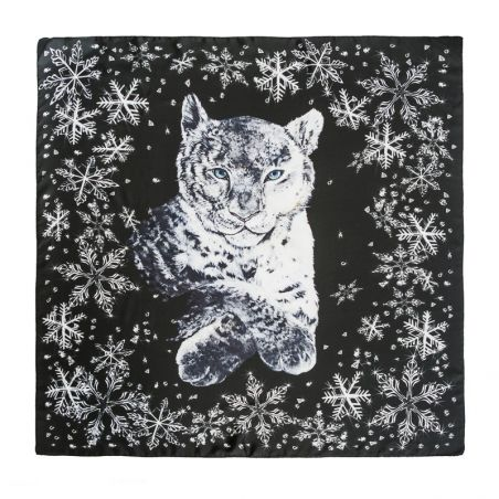 Silk Scarf Marina D'Este White Cat