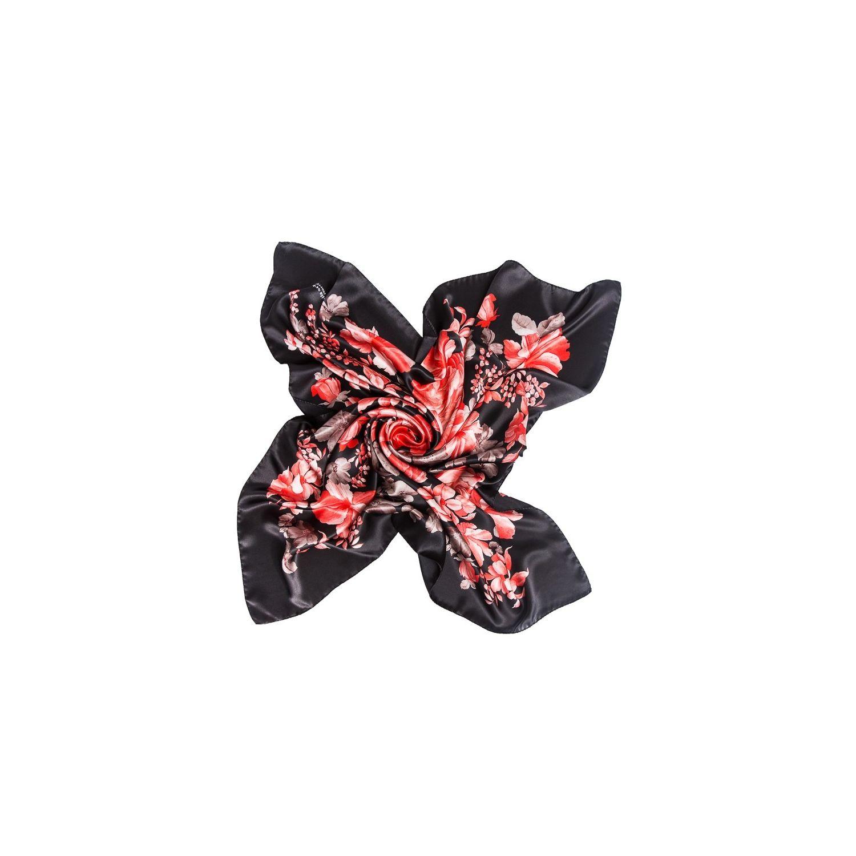 Silk Scarf Mila Schon Insieme red black