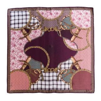 Esarfa matase naturala Mila Schon Notting Hill roz prafuit