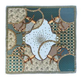 Silk Scarf Mila Schon Notting Hill blue