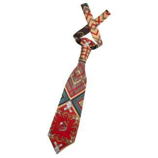 Cravată London Rush fond roşu