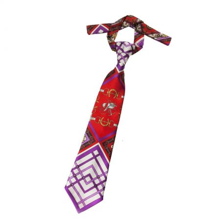 London Rush tie on purple