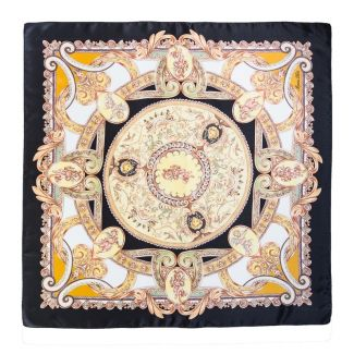 Silk Scarf Marina D'Este When In Rome black