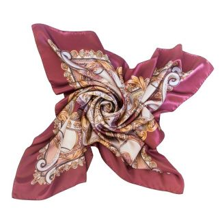 Silk Scarf Marina D'Este When In Rome dusty pink