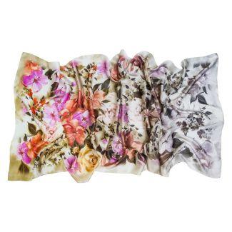 Silk Shawl Laura Biagiotti flowers corai