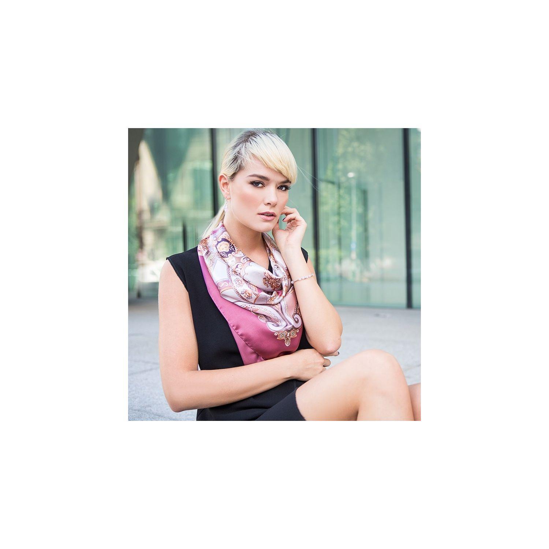 Silk Scarf Marina D'Este When In Rome dusty pink