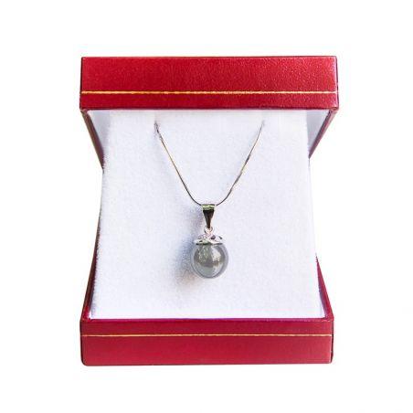 Silver pendant hematit