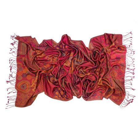 Silk jaquard shawl 70*180 L. Biagiotti Silk Geometry