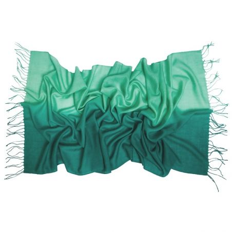Esarfa lana si casmir M. Schon 2 tones green