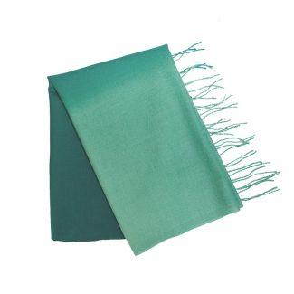 Wool Scarf Mila Schon green blue plain