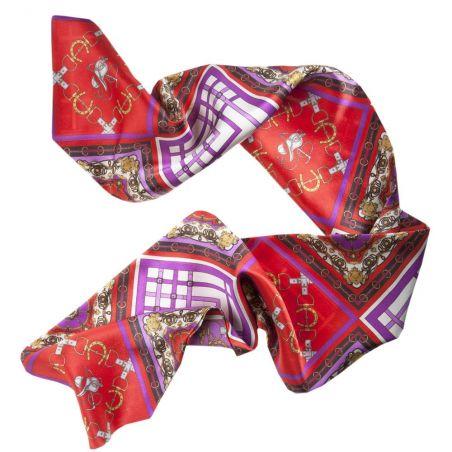 Eşarfă mătase naturală London Rush fond lila