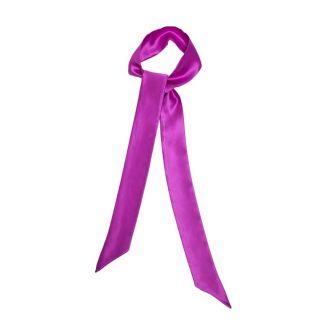Skinny deep pink silk scarf