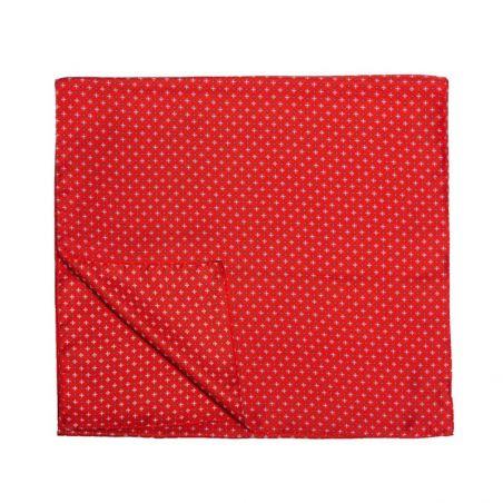 Esarfa matase Laura Biagiotti barbati smart red with bleu/navy print